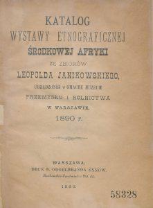 1890 Katalog wystawy etnograficznej środkowej Afryki ze-7
