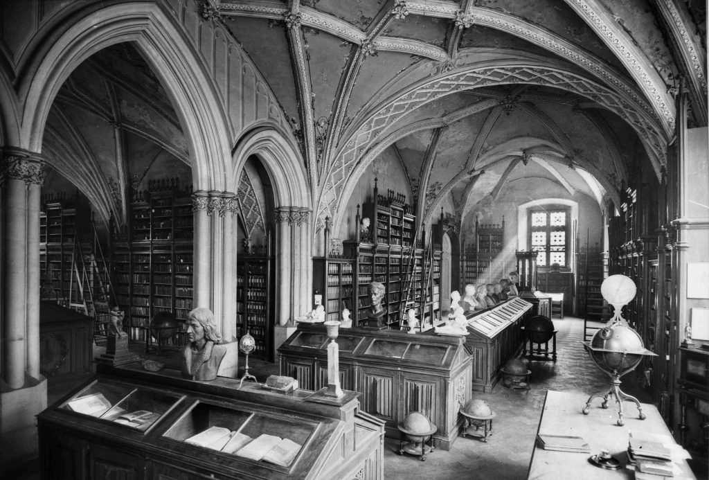 Sala Obiedzińskiego - Libraria Collegium Maius, lata 1930, wł. Muzeum UJ.